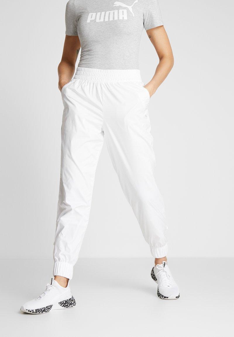 Puma - PUMA PANT - Tracksuit bottoms - white