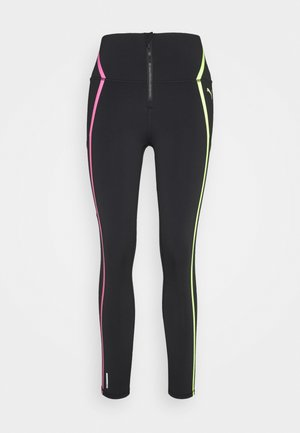 TRAIN BONDED ZIP HIGH RISE FULL - Tights - black/pink/yellow