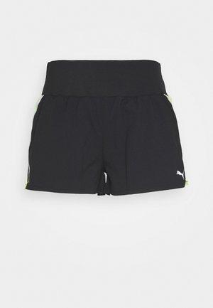 RUN LITE SHORT - Sports shorts - black/fizzy yellow