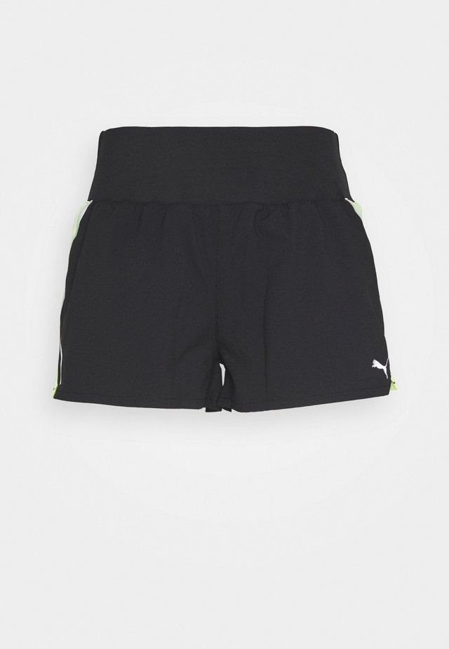 RUN LITE SHORT - kurze Sporthose - black/fizzy yellow