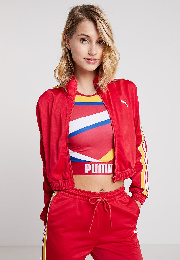 Puma - TRACK  - Trainingsjacke - lipstick red