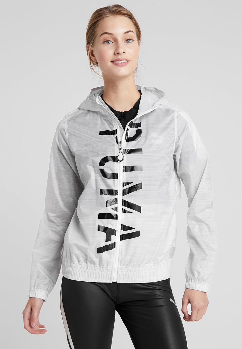 Puma - BE BOLD GRAPHIC JACKET - Windbreaker - white