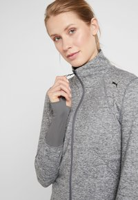 Puma - STUDIO JACKET - Veste de survêtement - medium gray heather - 3