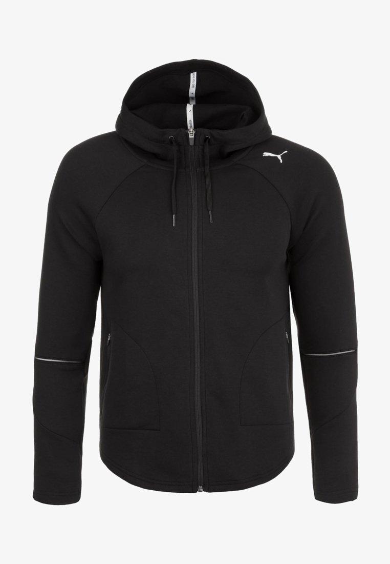 Puma - EVOSTRIPE MOVE KAPUZEN - Sports jacket - black