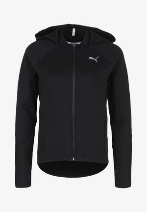 PUMA EVOSTRIPE KAPUZENJACKE DAMEN - Sports jacket - black