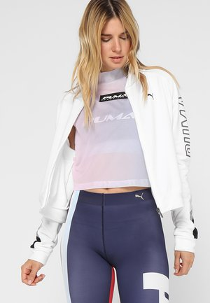 ATHLETIC BOMBER JACKET - Mikina na zip - puma white