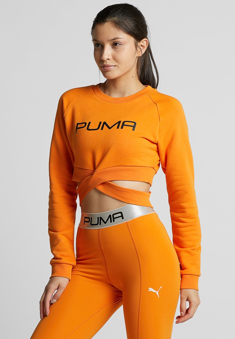 Puma - CROSS OVER  - Sweatshirt - russet orange