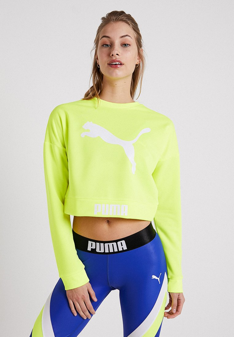 Puma - CREW - Sweatshirt - safety yellow
