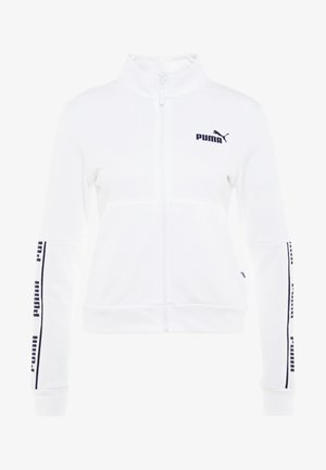 AMPLIFIED JACKET  - Huvtröja med dragkedja - puma white