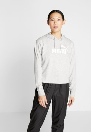 LOGO CROPPED HOODY - Felpa con cappuccio - light grey heather