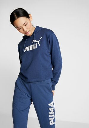 LOGO CROPPED HOODY - Huppari - dark denim