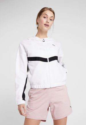 HIT FEEL IT JACKET - Mikina na zip - white