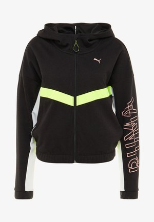 HIT FEEL IT JACKET - Sudadera con cremallera - black/yellow alert