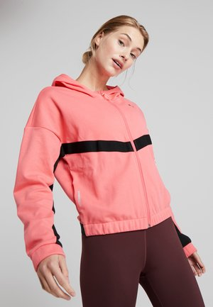 HIT FEEL IT JACKET - Mikina na zip - pink alert
