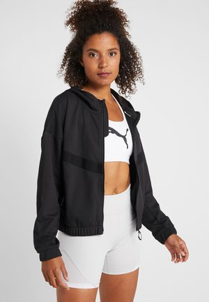 HIT FEEL IT JACKET - Felpa aperta - black