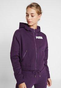 Puma - NU TILITY HOODY - Collegetakki - plum purple - 0