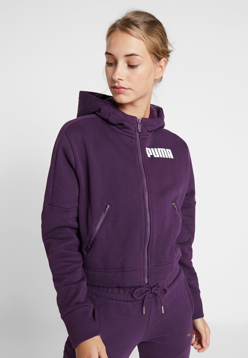 Puma - NU TILITY HOODY - Collegetakki - plum purple