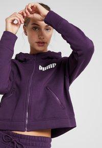Puma - NU TILITY HOODY - Collegetakki - plum purple - 3