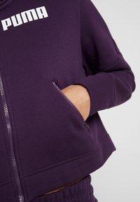 Puma - NU TILITY HOODY - Collegetakki - plum purple - 5