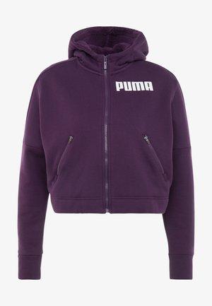 NU TILITY HOODY - Felpa aperta - plum purple
