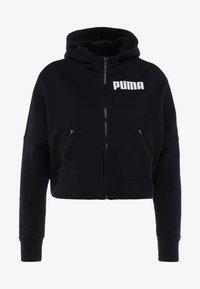 Puma - NU TILITY HOODY - Zip-up hoodie - puma black - 6