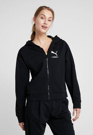 TILITY HOODY - Felpa aperta - puma black