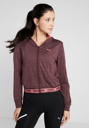 SOFT SPORTS DRAPEY HOODY - Training jacket - vineyard wine heather