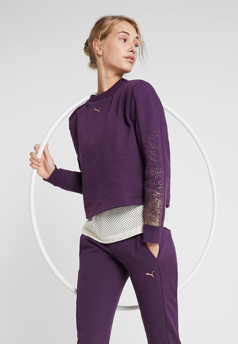 Puma - HOLIDAY PACK CREW  - Mikina - plum purple
