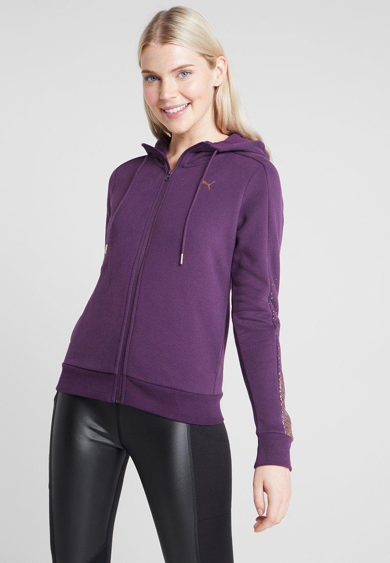 Puma - HOLIDAY PACK HOODIE  - Sweatjakke /Træningstrøjer - plum purple