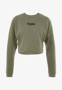 Puma - PAMELA  REIF X PUMA LACE UP CREW SWEAT - Sweatshirt - four leaf clover - 4