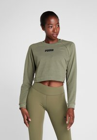 Puma - PAMELA  REIF X PUMA LACE UP CREW SWEAT - Sweatshirt - four leaf clover - 0