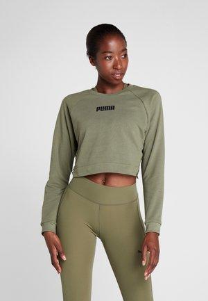 PAMELA  REIF X PUMA LACE UP CREW SWEAT - Sweatshirt - four leaf clover