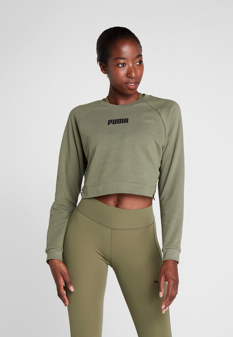 Puma - PAMELA  REIF X PUMA LACE UP CREW SWEAT - Sweatshirt - four leaf clover