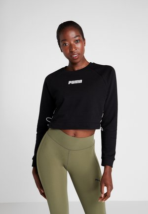 PAMELA  REIF X PUMA LACE UP CREW SWEAT - Mikina - black