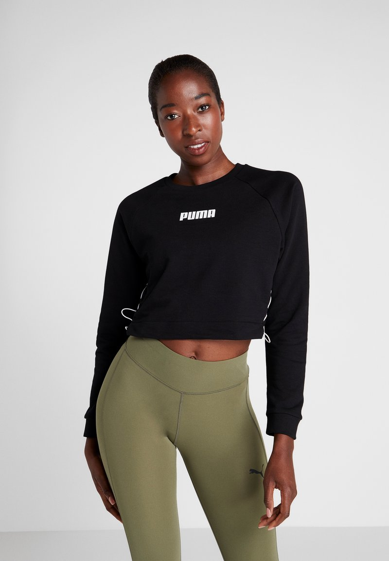 Puma - PAMELA  REIF X PUMA LACE UP CREW SWEAT - Felpa - black