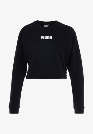 PAMELA  REIF X PUMA LACE UP CREW SWEAT - Sweatshirt - black