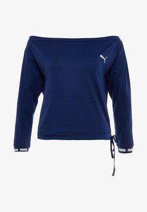 PAMELA REIF X PUMA OFF SHOULDER SWEAT - T-shirt sportiva - blue depths