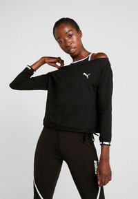 Puma - PAMELA REIF X PUMA OFF SHOULDER SWEAT - Funkční triko - black - 0