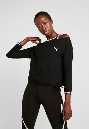 PAMELA REIF X PUMA OFF SHOULDER SWEAT - T-shirt de sport - black