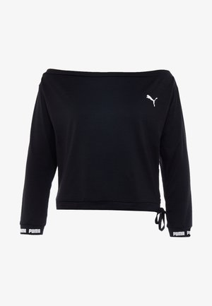 PAMELA REIF X PUMA OFF SHOULDER SWEAT - Treningsskjorter - black
