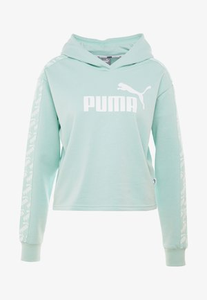 AMPLIFIED CROPPED HOODY  - Luvtröja - mist green