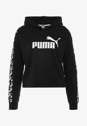 AMPLIFIED CROPPED HOODY  - Felpa con cappuccio - black