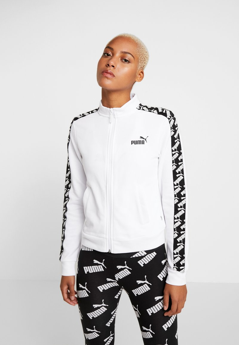 Puma - AMPLIFIED TRACK JACKET  - veste en sweat zippée - white