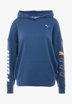 REBEL HOODY - Kapuzenpullover - dark denim