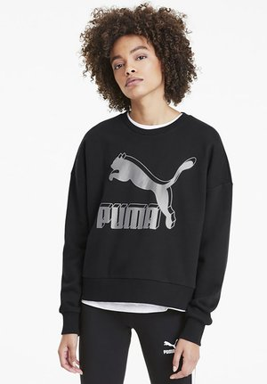 Sweater - black-metallic silver