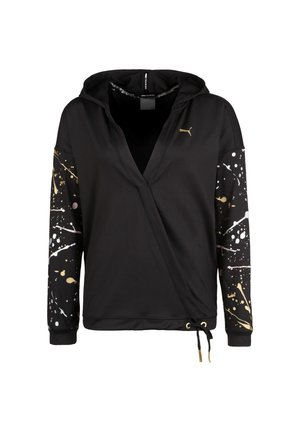 PUMA METAL SPLASH LUX WRAP TRAININGSKAPUZENPULLOVER DAMEN - Hoodie - puma black