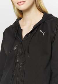 Puma - TRAIN FULL ZIP - Bluza rozpinana - black - 4