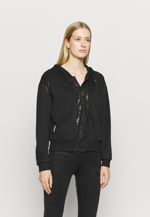 TRAIN FULL ZIP - Zip-up hoodie - black