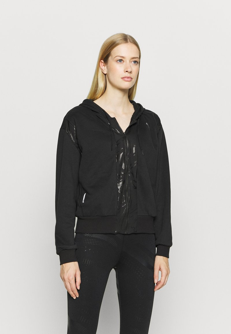 Puma - TRAIN FULL ZIP - Bluza rozpinana - black