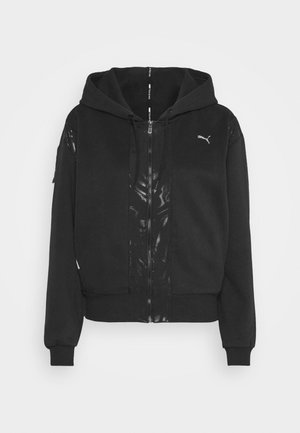 TRAIN FULL ZIP - Sudadera con cremallera - black